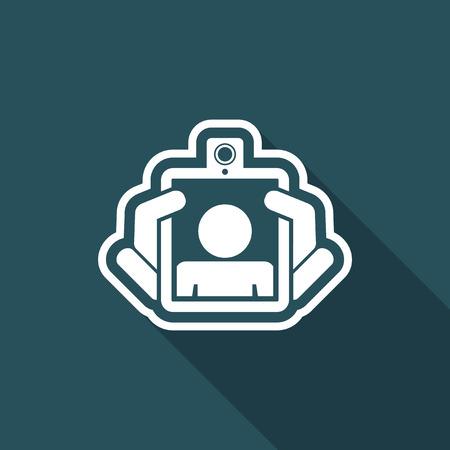 webcam: Webcam tablet icon Illustration