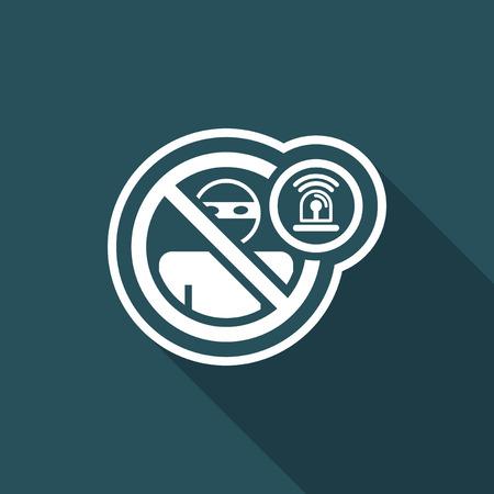 accessing: Thief alarm icon Illustration
