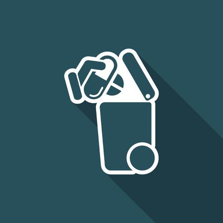 Séparée icône de la collecte des déchets Banque d'images - 74768118