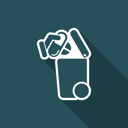 Separate waste collection icon Stock Vector - 74768118