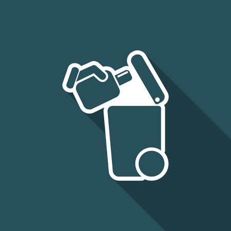 Separate waste collection icon.