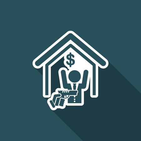 Robbery concept - vector icon Ilustrace