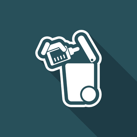 droppers: Separate waste collection icon
