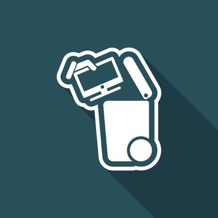 Getrennte Abfallsammlung Symbol