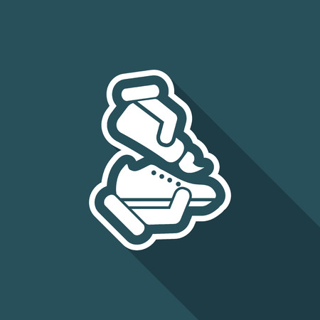 Shoe cleaning Vector Illustration