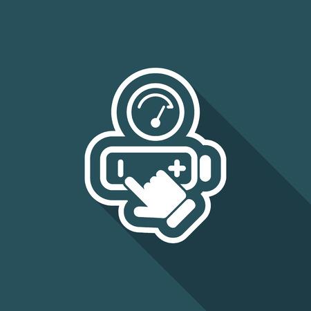 Battery level icon Illustration