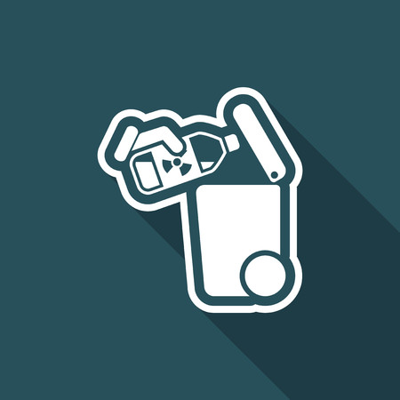 residue: Flat illustration of an artistic of a separate waste collection icon.