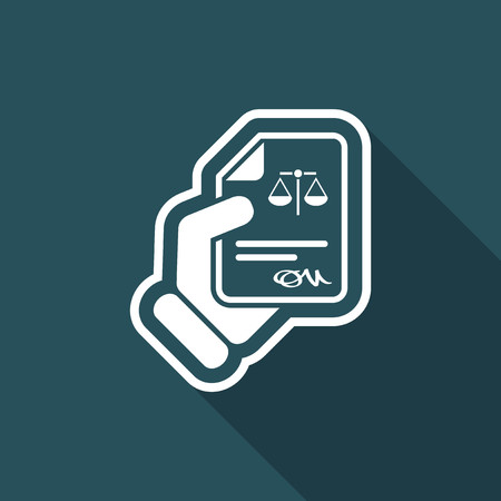 Legal document Illustration
