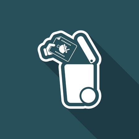 fiambres: Separada icono de recogida de residuos Vectores