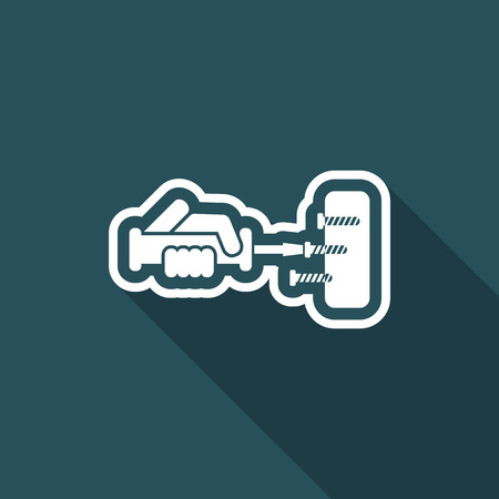 loosen: Screwdriver icon Illustration