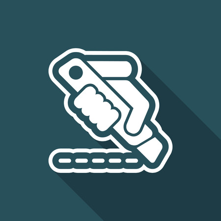 dangerous construction: Cutter icon