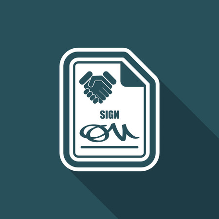 convention: Sign on agreement document