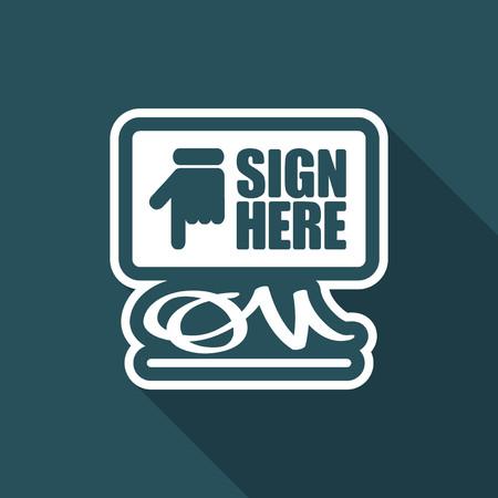 mandate: Sign on document