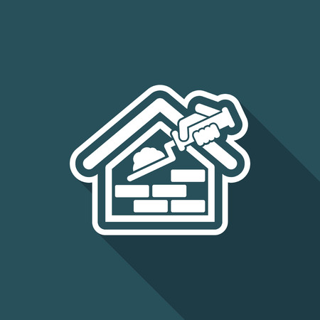 mason: Building icon Illustration