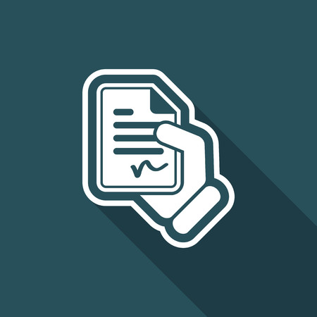 accordance: Document signed icon Illustration