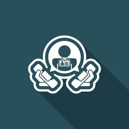 Contact us icon Illustration