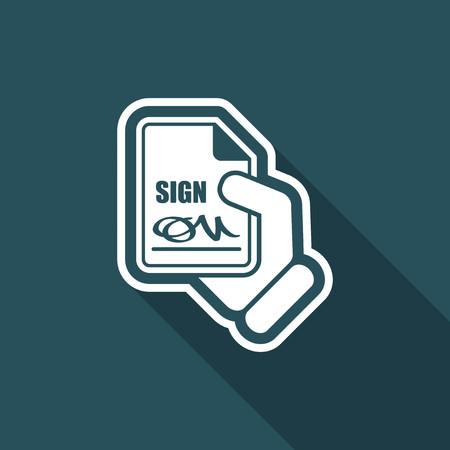 Sign on document Vector Illustration