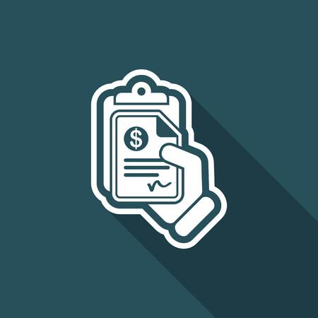 payable: Money document icon