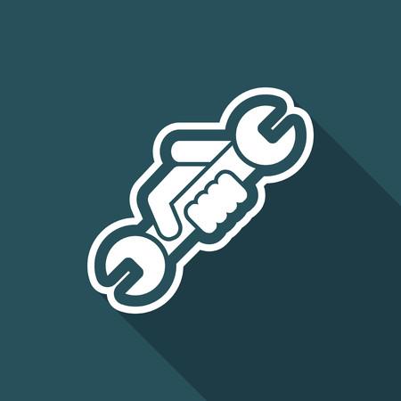 Wrench symbol icon