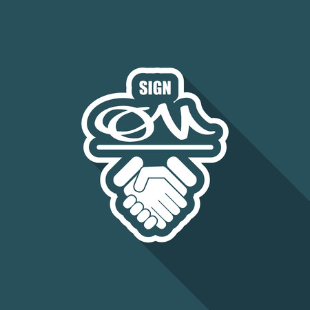 mandate: Sign on agreement document