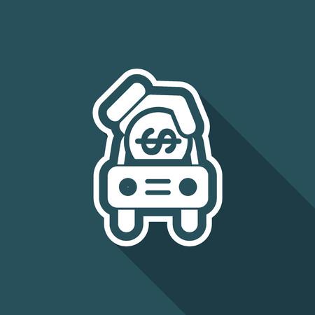 car: Car money icon Illustration