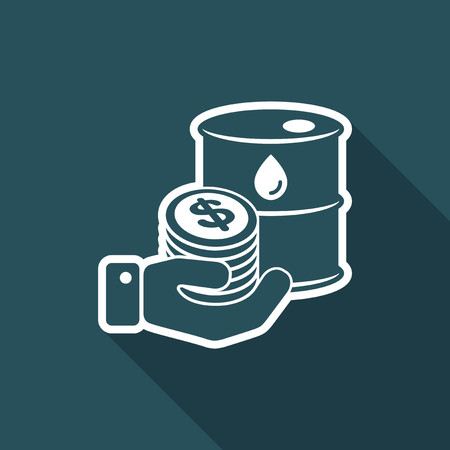 Oil price flat icon Illustration