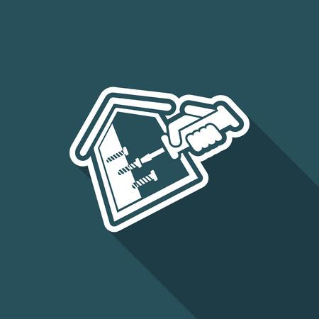 empleada domestica: reparación de la casa