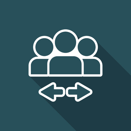 icon series: Social connection - Flat minimal icon