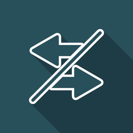 Transfer or sharing - Flat minimal icon