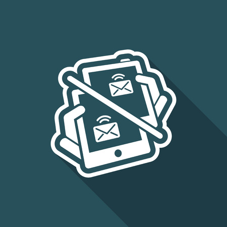 Web message icon Illustration