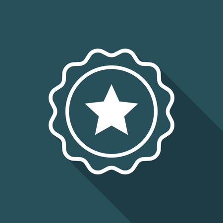 Rating sign - Vector flat minimal icon