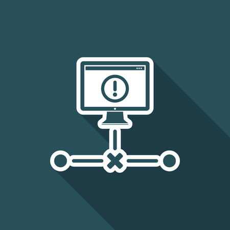 disconnected: Network error - Flat minimal icon
