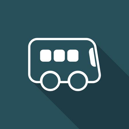 Bus flat vector icon
