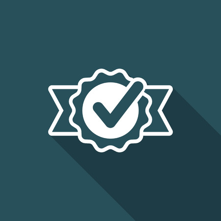 Approval check - Vector flat minimal icon Illustration