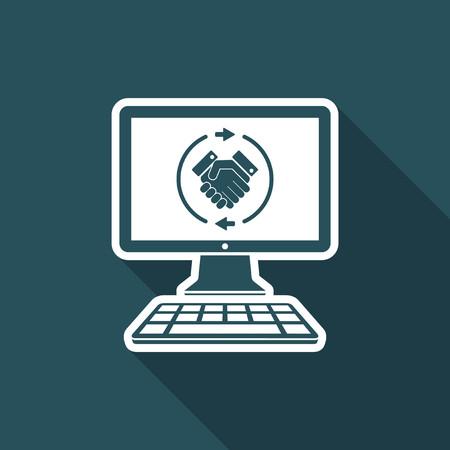 Web agreement flat icon