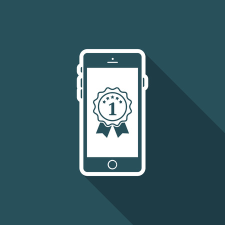 operative: Best smartphone awards - Vector flat minimal icon