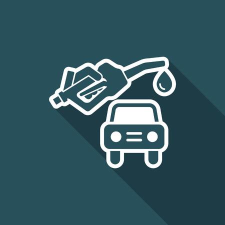 Car fuel - Vector icon