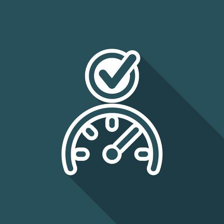Speed checking - Flat minimal icon