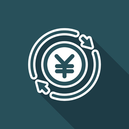 Money trade flat icon - Yen