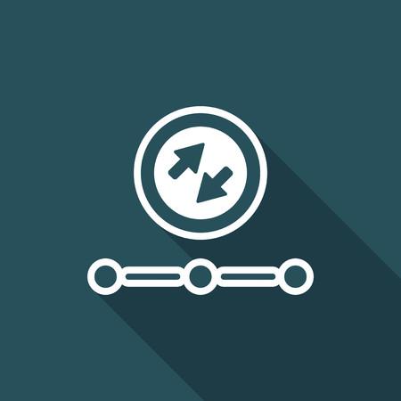Data transfer - network icon