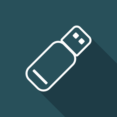 pendrive: Pendrive - Flat minimal icon