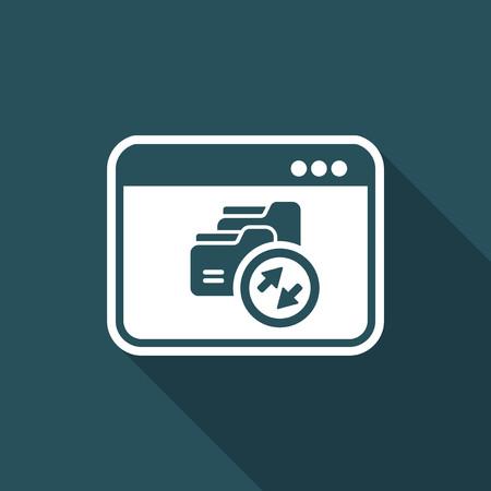 transmit: Data transfer window - Vector flat minimal icon
