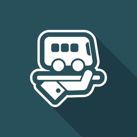 Hotel icon. Bus service. Stock Illustratie