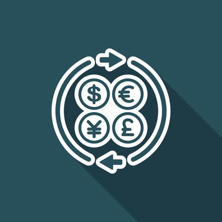 Money transfer single icon