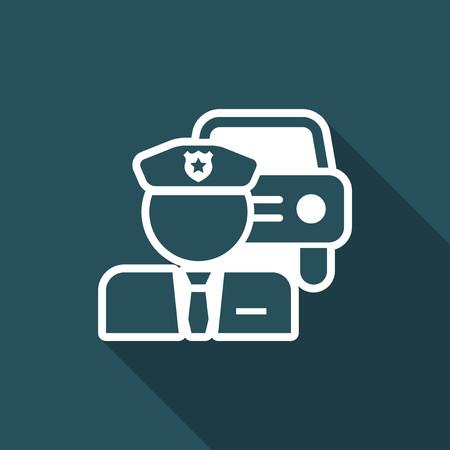 violation: Policeman icon Illustration