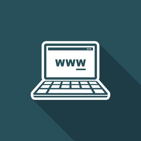 typewrite: Web browser panel icon Illustration