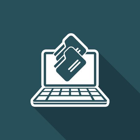storage device: Folders download - Flat minimal icon