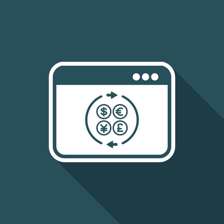 stock agency: Currency web services icon Illustration