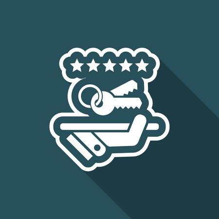 Luxury service icon. Keys. Illustration