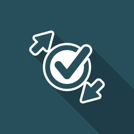 Check exchange - Flat minimal icon Illustration
